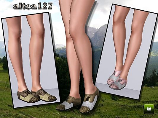 Sims 3 shoes, athletic, female