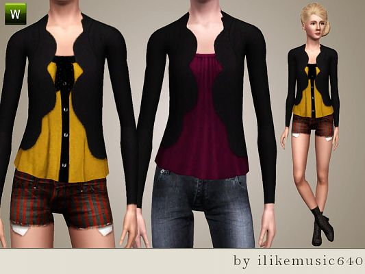 Sims 3 jacket, clothing, fashion, female