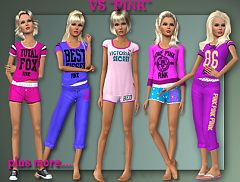 Sims 3 sleepwear, fashion, female, teen