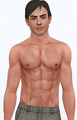 Sims 3  bellybutton, jewelry, male, navel, piercing