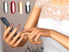 Sims 3 nails, glitter, accessories