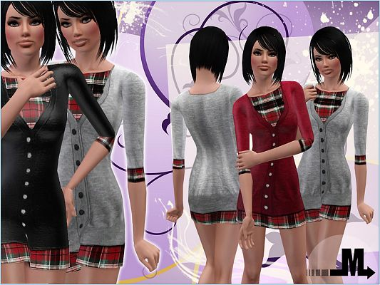 Sims 3 clothing, fashion, outfit, female, dress