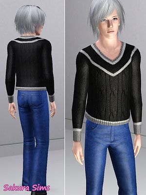 Sims 3 top, cloth, clothing, fashion, sweater