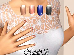 Sims 3 nails, short, accessories
