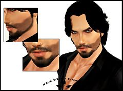 Sims 3 beard, facial hair, genetics, male