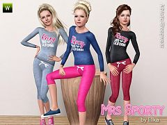 Sims 3 sport, set, athletic, outfit