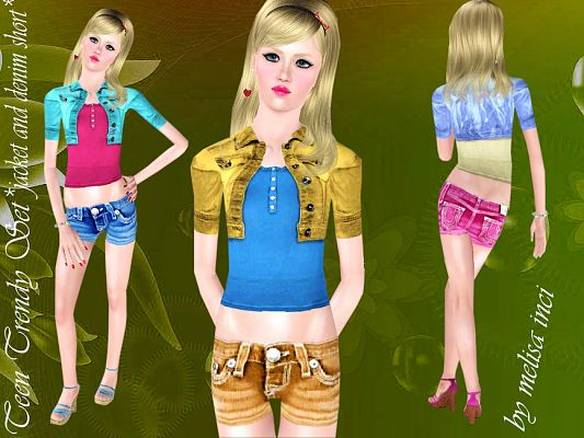 Sims 3 jacket, clothing, outfit, female