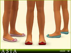 Sims 3 shoes, flats, female, children