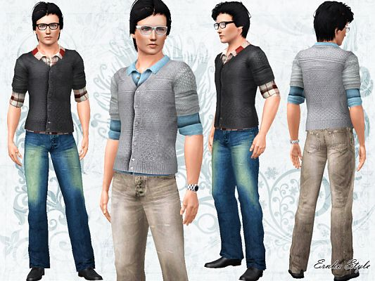 Sims 3 top, clothing, male