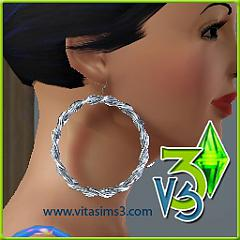 Sims 3 earrings, gold, silver, pearls, jewelry