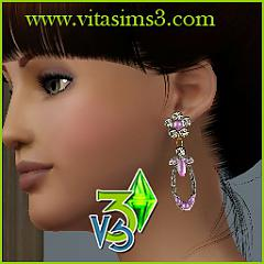 Sims 3 earrings, jewelry, gold, silver, necklace