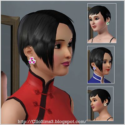 Sims 3 jewelry, accessories, earrings, female