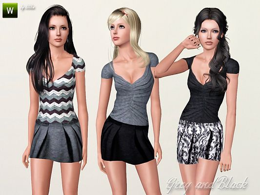 Sims 3 clothing, fashion, outfit, female, skirt