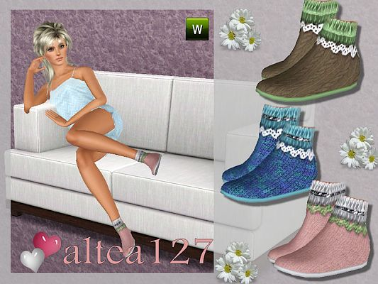 Sims 3 shoes, slippers, female