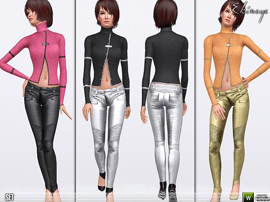 Sims 3 pants, top,  clothing, fashion, female