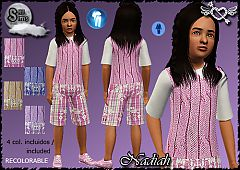 Sims 3 children, clothing, fashion, outfit, kids, girl