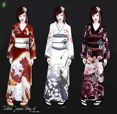Sims 3 dress, cloth, clothing, outfit, fashion, japanese
