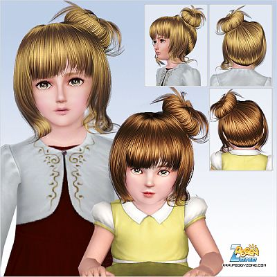 Sims 3 hair, hairstyle, genetics, girls