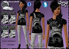 Sims 3 teen, clothing, fashion, outfit, girl