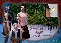Sims 3 horns, accessories, child