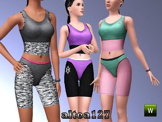 Sims 3 sport, outfit, athletic