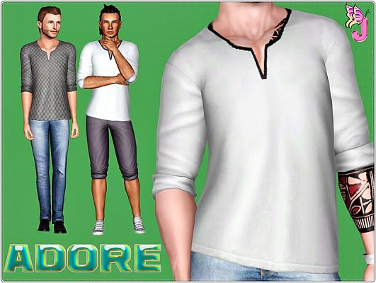 Sims 3 shirt, top, clothing, male