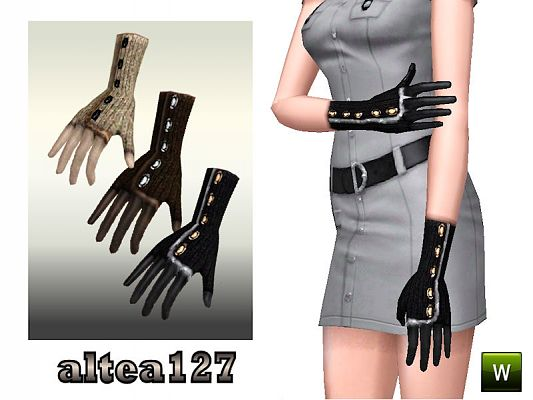 Sims 3 gloves, leather, wool, accessories