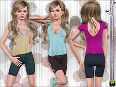 Sims 3 sport, outfit, athletic, set