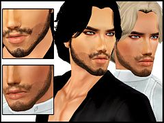 Sims 3 facial hair, genetics, male