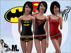 Sims 3 sleep, sleepwear, set, lingerie