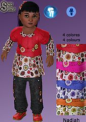 Sims 3 toddler, clothing, fashion, outfit, girl