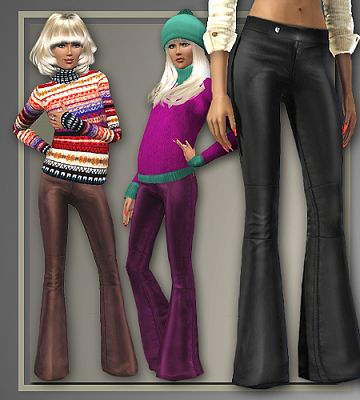 Sims 3 leather, pants, clothing, outerwear, fashion, outfit