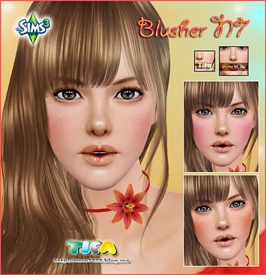 Sims 3 blush, makeup, female