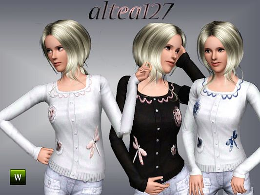 Sims 3 cardigan, clothing, fashion, female