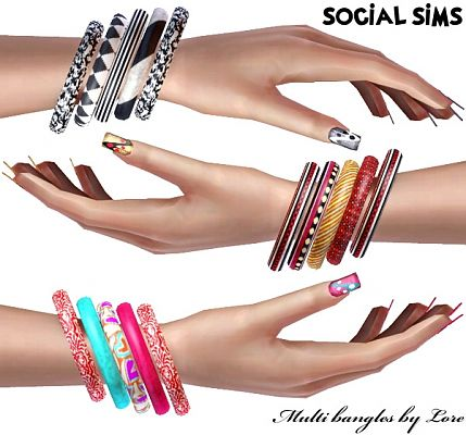 Sims 3 bangles, bracelet, jewelry, accessories