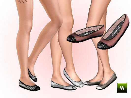 Sims 3 shoes, flat, footwear