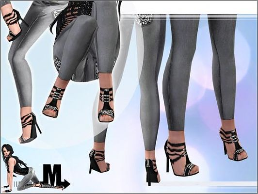 Sims 3 shoes, sandals, heels