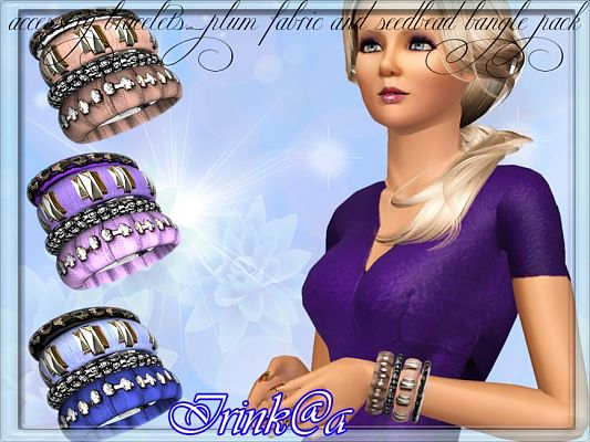 Sims 3 bangles, accessories, female, jewelry