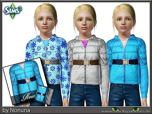 Sims 3 jacket, clothing, girls