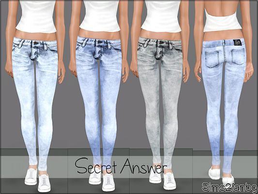Sims 3 clothing, fashion, outfit, female, jeans