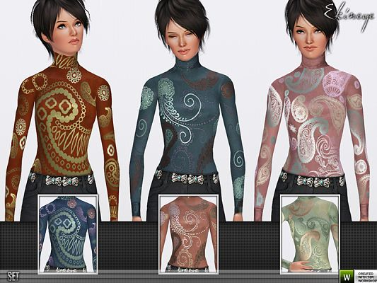 Sims 3 shirt, top, clothing, female