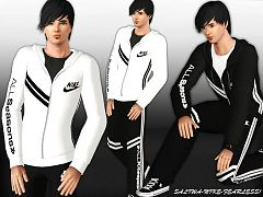 Sims 3 sport, set, athletic, male, nike