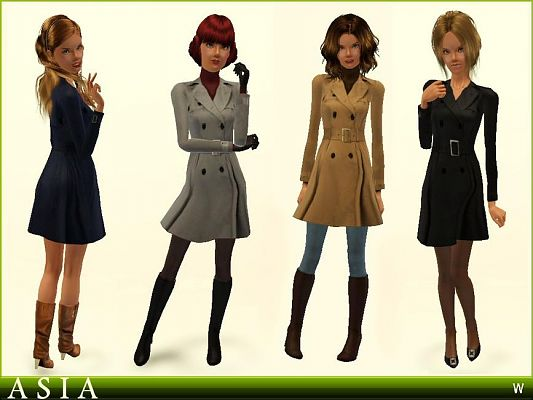 Sims 3 clothing, fashion, outfit, female, outerwear