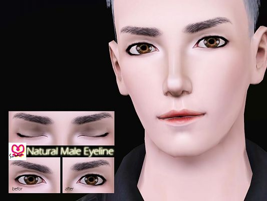 Sims 3 eyeliner, makeup, male