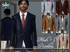 Sims 3 blazer, male, formal, everyday