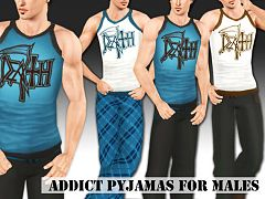 Sims 3 sleep, sleepwear, set, pajama