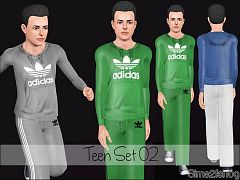 Sims 3 sport, athletic, set, male
