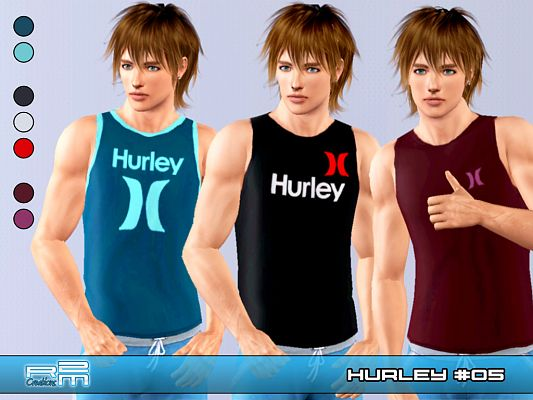 Sims 3 t-shirt, top, clothing, male, athletic
