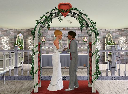 Sims 3 dress, cloth, clothing, outfit, fashion, wedding, castle