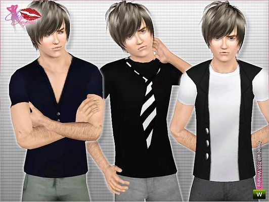 Sims 3 shirt, top, fashion, male, cloth, clothing